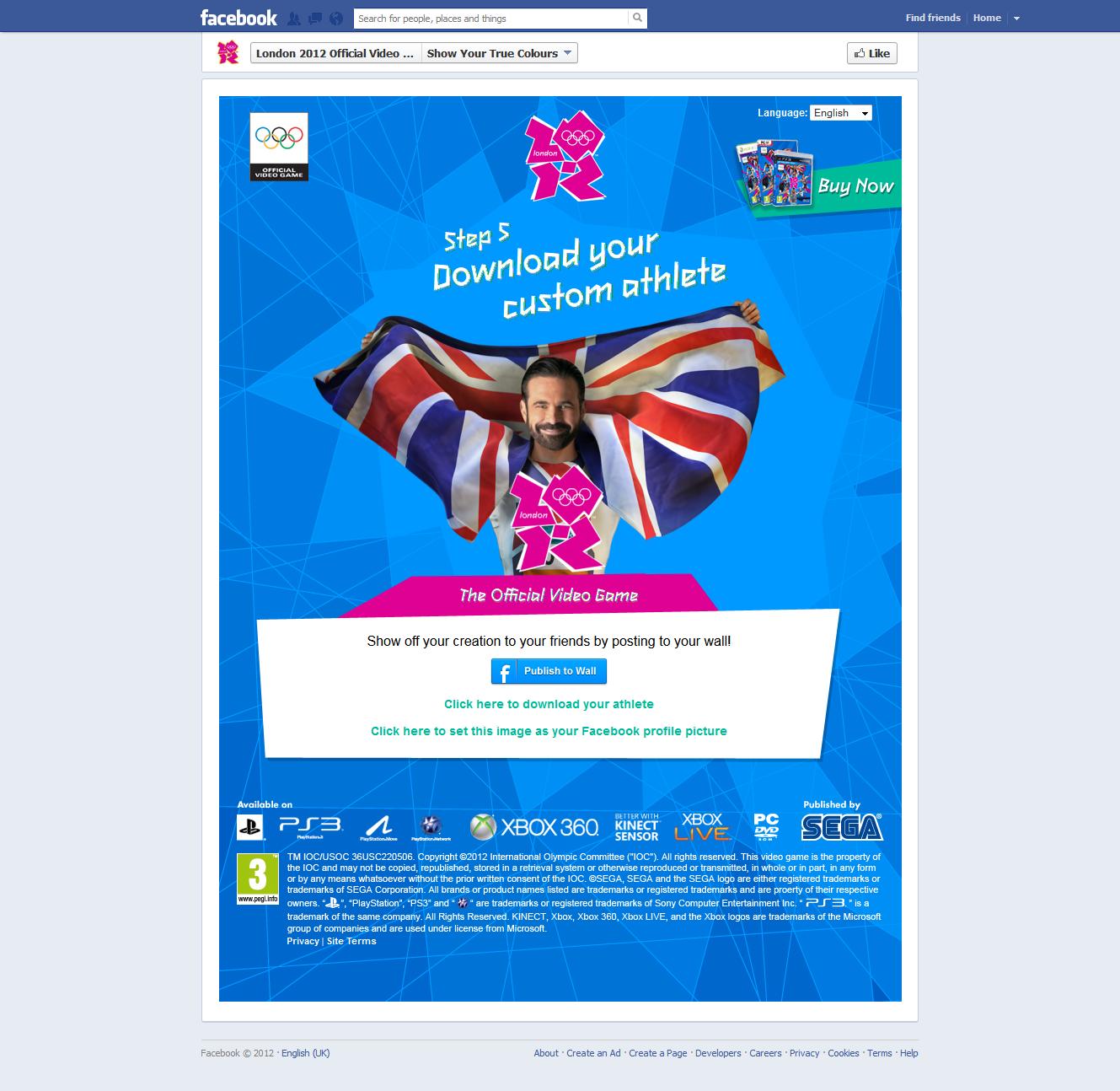 Useful Digital | SEGA's London Olympics Facebook App